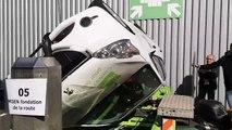 Sécurité routière : une voiture tonneau pour sensibiliser les jeunes Franciliens