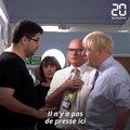 Boris Johnson malmené lors d'une visite dans un hôpital