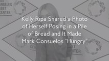 "Kelly Ripa Shared a Photo of Herself Posing in a Pile of Bread and It Made Mark Consuelos ""Hungry"""