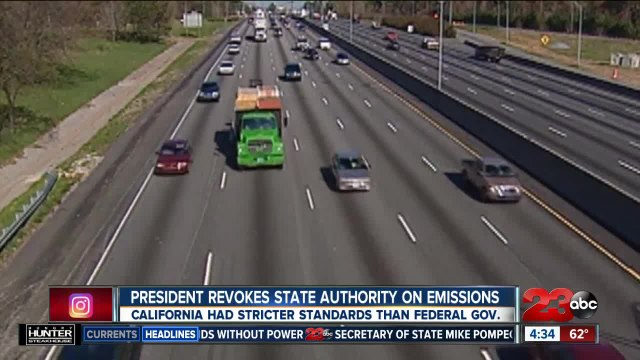 President Donald Trump revokes California's authority on emissions