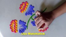 rangoli designs of flower \ easy and simple rangoli design \ rangoli design