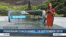 Prakiraan Cuaca Kamis, 19 September 2019