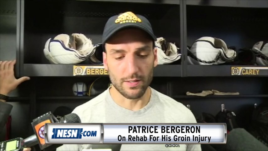 Patrice Bergeron (Groin) Says He'll Be Ready For Season Opener
