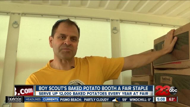 History of Boy Scouts Baked Potato Booth