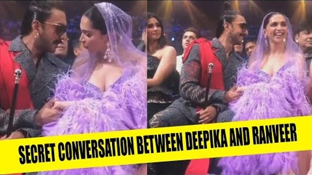 Deepika Padukone and Ranveer Singh having a secret conversation