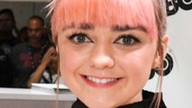 Maisie Williams Ditches Pink Hair For Sophisticated 'Do On Emmys Red Carpet