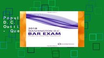Popular 2018 Washington D.C. Bar Exam Primer Outlines and Checklists - Quest Bar Review