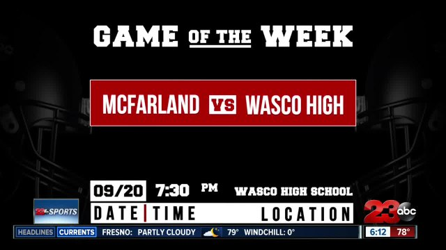 Game of the Week for Week 5 of the season