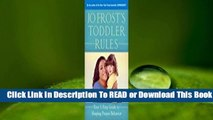 Online Jo Frost's Toddler Rules: Your 5-Step Guide to Shaping Proper Behavior  For Kindle