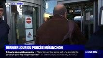 Jean-Luc Mélenchon et Éric Dupond-Moretti sont arrivés au tribunal de Bobigny pour le 2e jour de procès des Insoumis