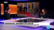 Emmanuel Macron en Italie, réconciliation après des mois de tensions diplomatiques.