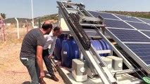 Güneş panellerini robot temizleyecek - MANİSA