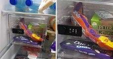 Il installe un coffre-fort à chocolat dans le frigo pour empêcher sa femme d'en manger