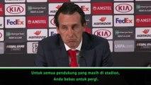 Konferensi Pers Unai Emery Terganggu Oleh Pengumuman Stadium Frankfurt