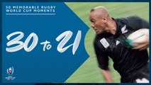 Most Memorable Moments in Rugby World Cup History  30-21