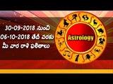 Weekly Rasi Phalalu from 30th September 2018 to 6th October 2018
