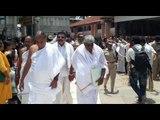 kumarswamy family visits sharadamba temple in shringeri