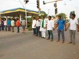 Gadag: Protests by BJP farmer unit and Yuva Morcha