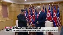 Seoul's nuclear envoy expects N. Korea-U.S. talks to restart within September