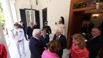 Napoli - Mattarella riceve il Presidente Steinmeier (20.09.19)
