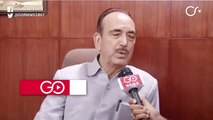 Government Hiding Truth On Ground: Ghulam Nabi Azad