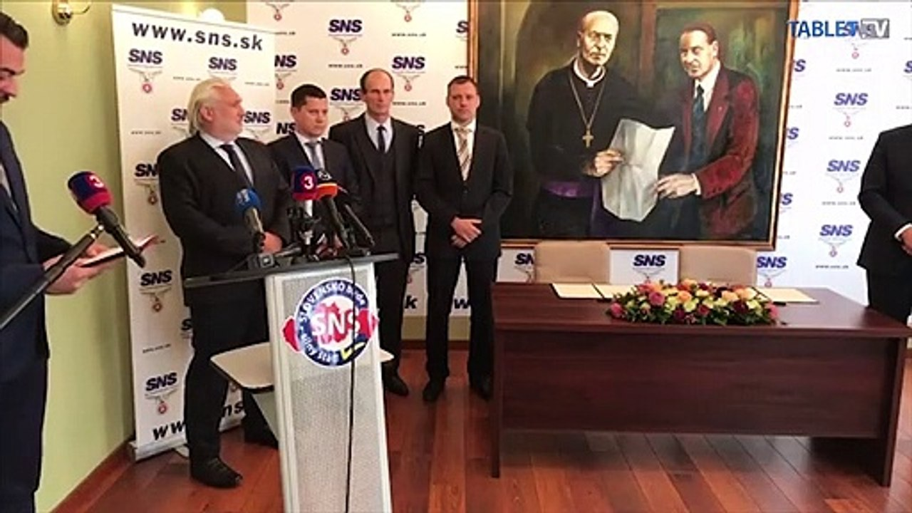 ZÁZNAM: TK predsedu SNS a predsedu NR SR Andreja Danka