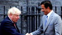 Qatari emir meets British PM Johnson in London