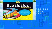 About For Books  Statistics For Dummies, 2nd Edition (For Dummies (Lifestyle))  Review