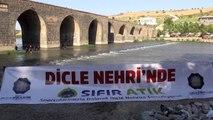 Dicle Nehri, atıklardan arındırılıyor