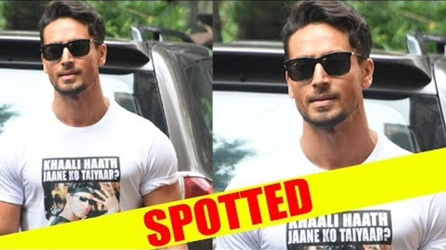 Tiger Shroff stepped out wearing a T-Shirt with Hrithik Roshan memes