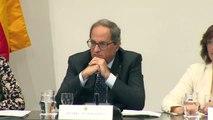 Torra no retirará la pancarta del lazo de la Generalitat