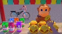 Learn Colors Learn Food Monkey vs Boong Fruit W Cartoon Nursery Rhymes For Children