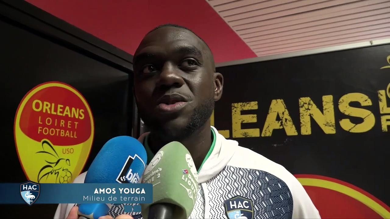 Après Orléans – HAC (2-2), réaction d'Amos Youga