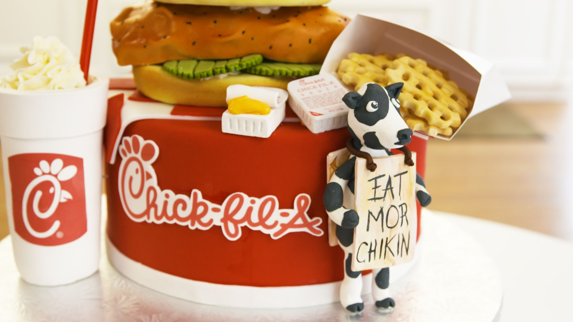 Chick-fil-A Lovers Won't Be Able To Look Away From This Fried Chicken-Topped Cake