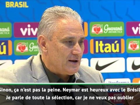 "Brésil - Tite : ""Ici, Neymar est heureux !"""