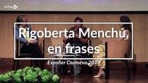 Las sabias frases que dijo Rigoberta Menchú en su paso por Cali