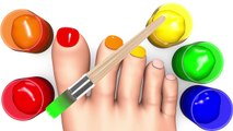 Learn Colors with Foot Painting Song Nursery Rhymes Wheels On The Bus Kid Song
