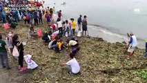 Manileños join massive clean up drive in Baseco beach