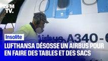Lufthansa désosse un Airbus pour en faire du mobilier et des accessoires design