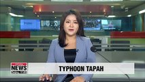 Typhoon Tapah approaches southern coast of Korean Peninsula, heavy rain expected