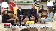 "President Trump says his good relationship with Kim Jong-un is the ""best thing"" that has happened to U.S. in the past 3 years"