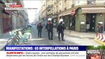 Les forces de l'ordre ont tiré de nombreux gaz lacrymogènes aux abords des Champs-Élysées