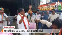 मुख्यमंत्री के रोड शो में ढोल की थाप पर जमकर नाचे आबकारी मंत्री कवासी लखमा