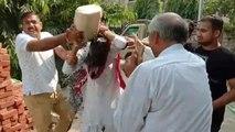 महिला भाजपा नेता आत्मदाह की कोशिश के दौरान हुई बेहोश