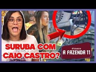 """A Fazenda 11: Bifão faz """"número 1"""" na festa, Tati briga e sobra pra Caio Castro"""
