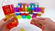 Aprender colores Learn Colors Slime Mix Combine Glitter Coca Cola Surprise Toys With Nursery Rhymes For Kids