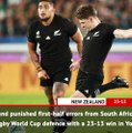 Fast Match Report - New Zealand v South Africa