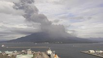 Sakurajima volcano in southern Japan erupts