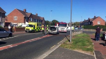 Catcote Road crash in Hartlepool