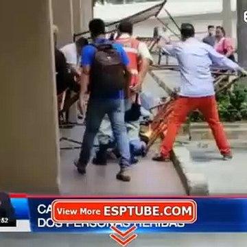 Caída de andamio dejó a dos personas heridas en Guayaquil - ESPTUBE.COM